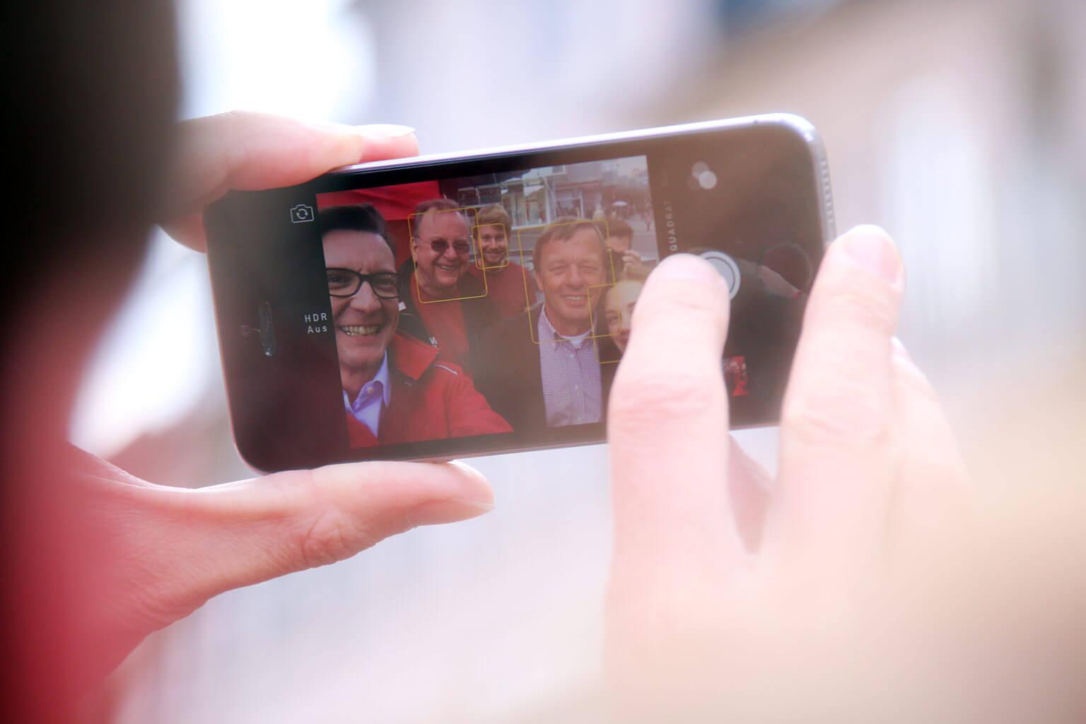 Straßenwahlkampf in Remscheid